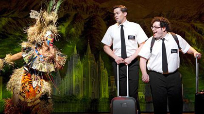 "Andrew Rannells and Josh Gad in ""The Book of Mormon"""
