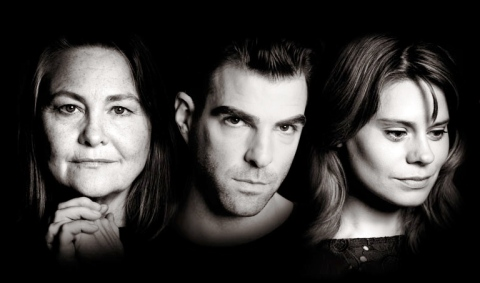 Cherry Jones, Zachary Quinto and Celia Keenan-Bolger