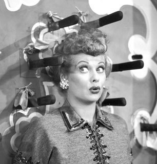 Lucille Ball, being funny.