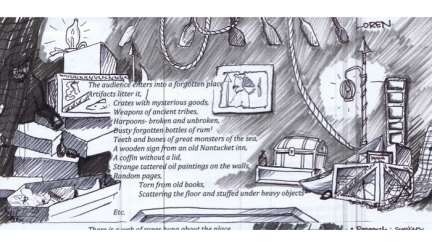 """Seawife"" by Seth Moore and the Lobbyists (sketch by Loren Shaw)"