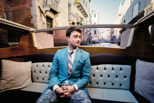 "Daniel Radcliffe, promoting ""Kill Your Darlings"" in Venice"