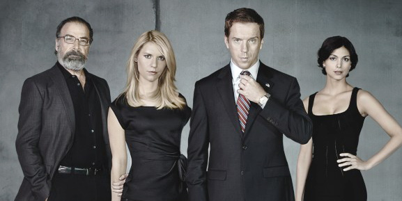 "Mandy Patinkin, Claire Danes, Damian Lewis, and Morena Baccarin of ""Homeland"""