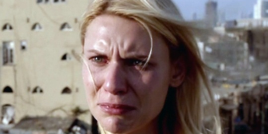 Homeland, starring Claire Danes' cry face