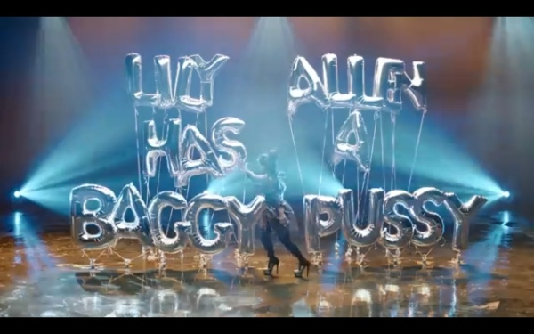 """From Lily Allen's new music video, """"Hard Out Here"""""""