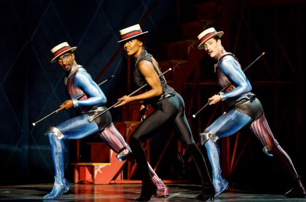 """The Broadway revival of """"Pippin"""", featuring Patina Miller as the Leading Player"""