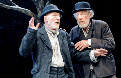 "Sir Patrick Stewart and Sir Ian McKellen in ""Waiting For Godot"""