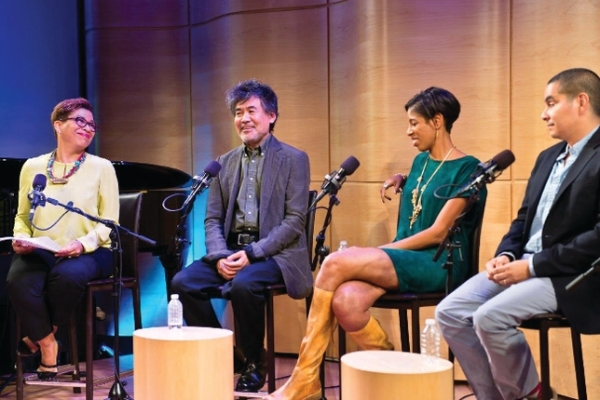 Michele Martin of NPR, Henry David Hwang, Lydia Diamond, Kristoffer Diaz