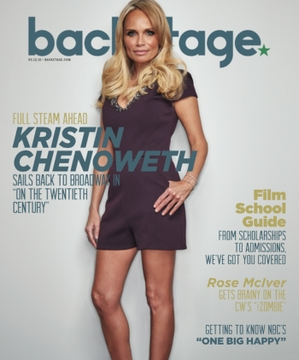 Kristin Chenoweth on the cover of Backstage